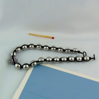 Collier perles shamballa