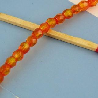 10 perlas de plástico facetado 5 mm.