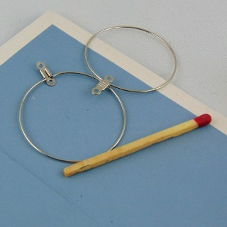 Anillos para aretes o atrapasueños 35 mm.
