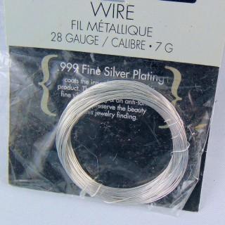 Fil argenté bijoux diamètre 0.3 mm,