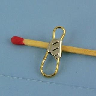 Clasp pins miniature metal 2 cm