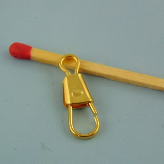 Cierre fija metal miniatura 2 cm