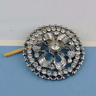Pendentif en métal avec strass 4,5 cm