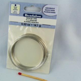 Fil à mémoire Beadalon métal bijoux 0,7 mm