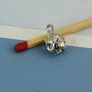 Colgante de bola de metal de perlas, 8 mm.