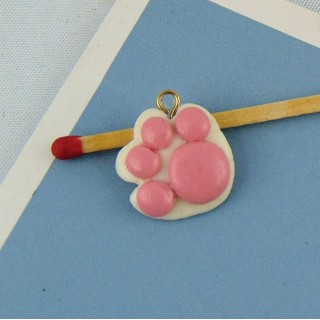 Cat paw charm 15 mm