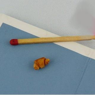 Croissant viennoiserie miniature poupée 1/12 1 cm