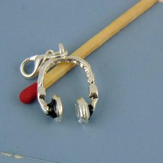 Breloque casque écouteurs miniature poupée 15 mm