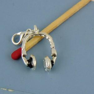 Charm auriculares muñeca miniatura 15 mm