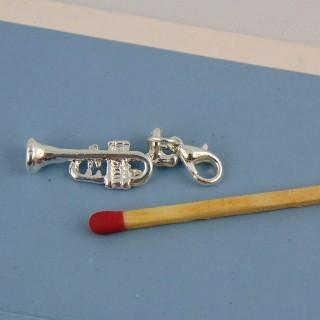 Breloque guitare avec mousqueton 2 cm