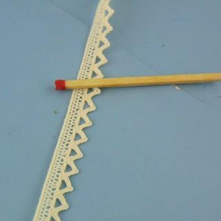 Dentelle fine coton 8 mm