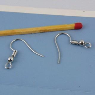 2 Pendentes arete anzuelo en accero quirurgico