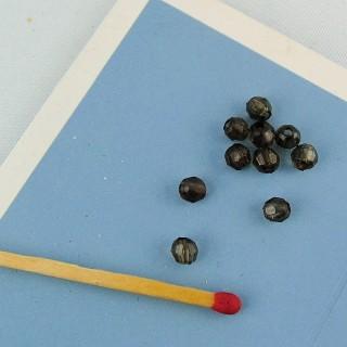 10 Facettenreiche Kunststoffperle 4 mm.
