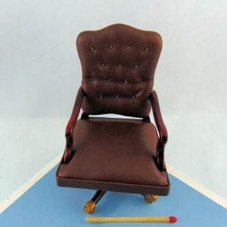 Reslute desk chair miniature doll house