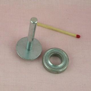 Herramientas para la colocación de claveles metálicos de 12 mm para engarzar
