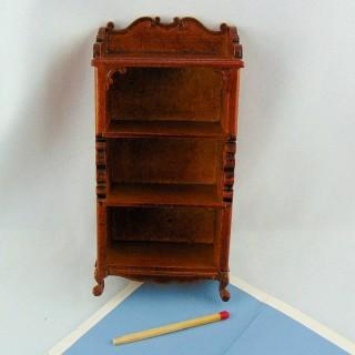 Estanterías en miniatura casa de muñecas talladas 11 cm