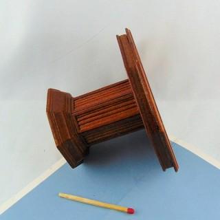 Table octogonale bois meuble miniature maison poupée