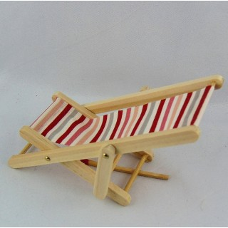 Miniature sunlounged chair 1/12