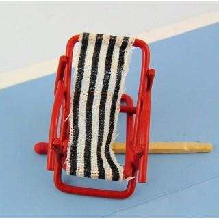Chaise longue transat miniature 1/24