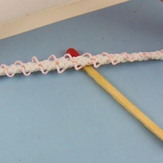 Ruban élastique brodé 8 mm au mètre