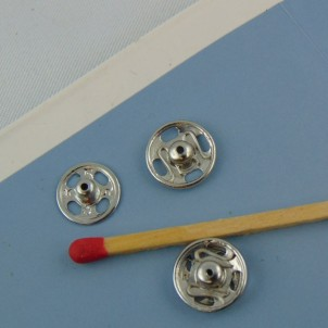 Metal pressure buttons to sew 9 mm by 10