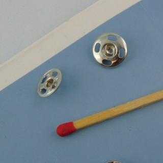 Botones de presión metálicos para coser 9 mm por 10