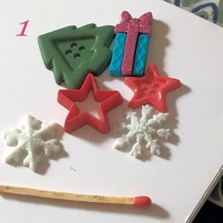 6 boutons Noël neige couronne de l'avent