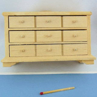 Miniatur Miniatur Holz roh Puppenhaus