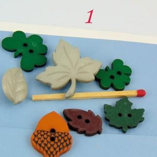 Boutons ensemble de feuilles