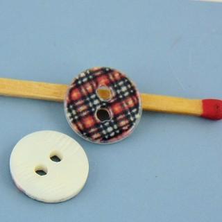Botón de hadashery estampado escocés 1 cm.