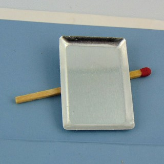 Plateau en métal miniature 35 mm