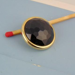 Große schwarzfüßige Haute Couture Knopf - gold 2 cm