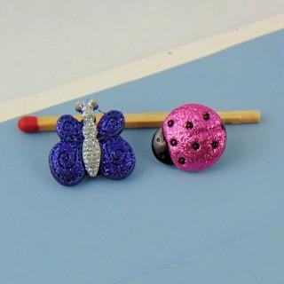 Button, Butterfly flat button, embellishment.