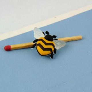 Botón de abeja de insecto 2 cm.