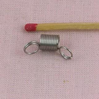 Embout cordon bijoux ressort deux anneaux apprêt 8 mm,