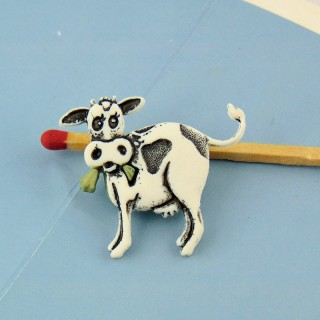 Farm animal button VACHE