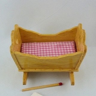Miniature cradle swinging doll house