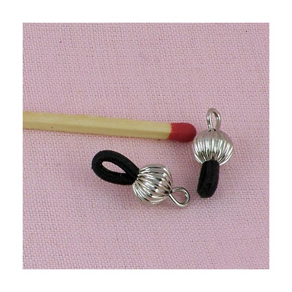 Metal beads cones silver