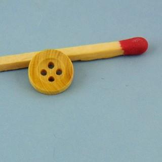 Botones de madera con giro de 1 cm.
