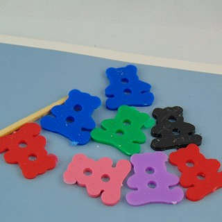 Big sized plastics bears buttons two holes,