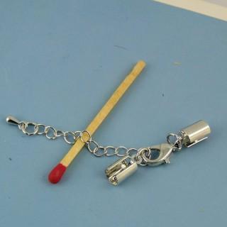 Befestigung umklammern zwei Verschlußteile Puppe 3 cm