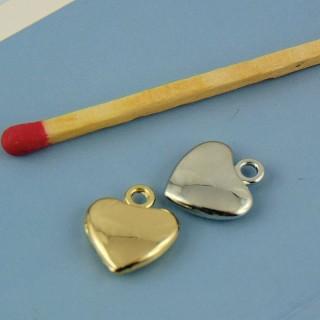 Colgante de corazón joya de 12 mm