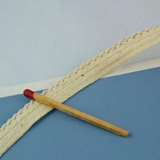 Passepoil tressé en coton 6 mm vendu au mètre