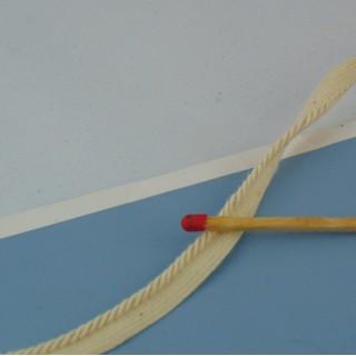 Ribete pasamanería algodón 3 mm. vendido al metro