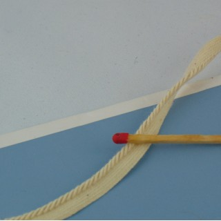 Twisted cotton cord with lip 3 mms.