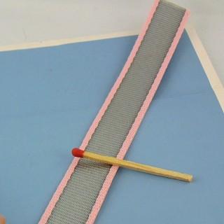 Sangle galon bicolore épais 2 cm, 20 mm.