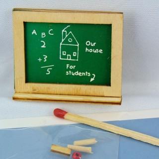 Chalkboard doll house blackboard doll school