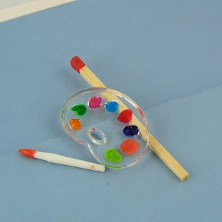 Miniatur-Maler-Palette 1/12 Puppenhaus