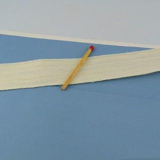 Ruban grosgrain surpiqué, 1,2 cm.