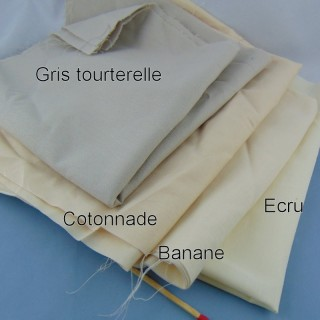 Cupón Ane de Soléne tejido de algodón liso 30 x 30 cm